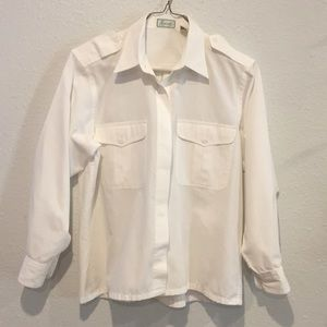 FoxCroft Collard Blouse, Size S, Gently Worn
